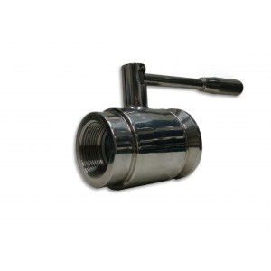 "Valvola a sfera inox 1""1/4 filetto interno x 40 garolla"
